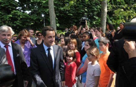10 mai avec Nicolas Sarkozy au Jardin du Luxembourg
