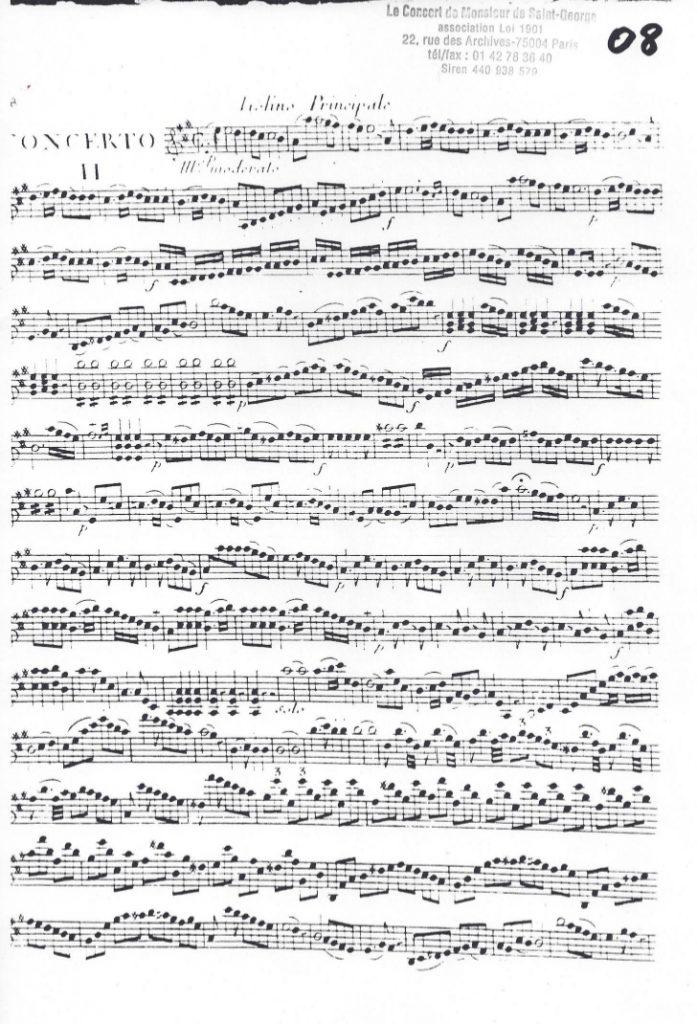 Concerto en La Majeur (A Major) G.032
