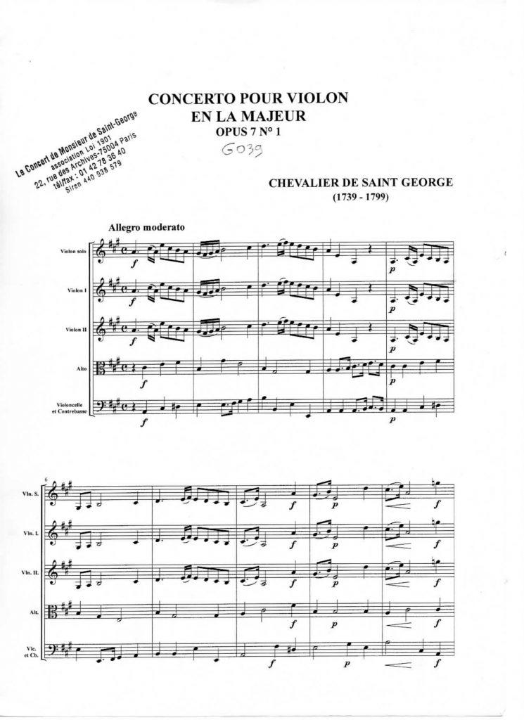 Concerto en La Majeur (A Major) G.039