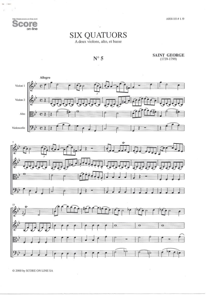 Quatuor en sol mineur (G minor) G.006