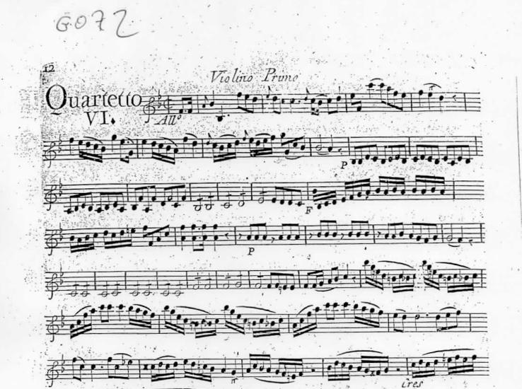 Quatuor en Si bémol Majeur (B flat Major) G.072