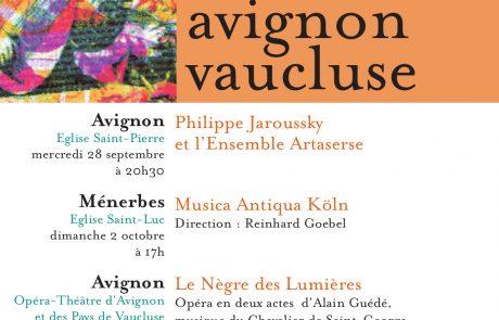Le Nègre des Lumières affiche Avignon