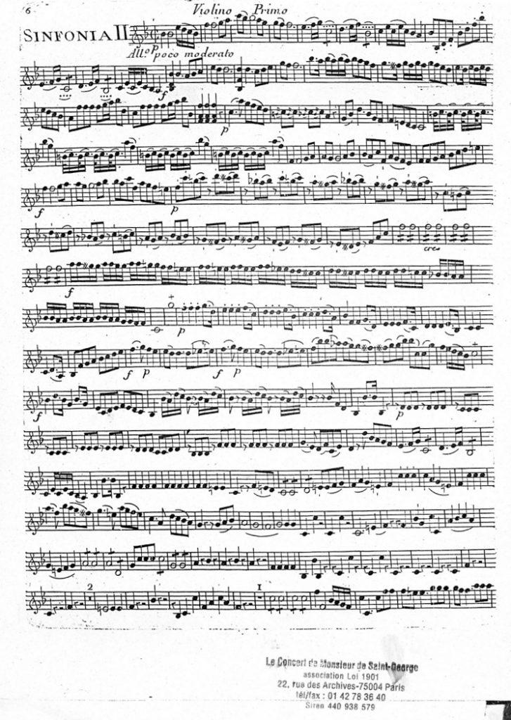 Symphonie Concertante en Si bémol Majeur (B flat Major) G.038